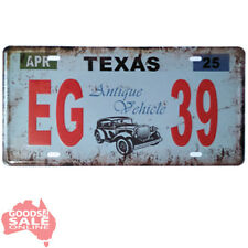 USA Texas Novelty Number Plate Vintage Style Metal Wall Sign 31x15cm - EG39