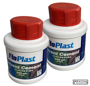Pack of 2 - Floplast Solvent Cement PVC Plumbers Waste Pipe Weld Glue - 250ml