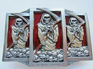 Deaths door belt buckle grim reaper horror buckle.