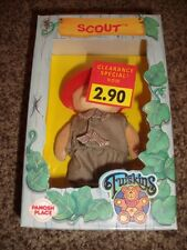 Rare Furskins Scout Boy Bear Flocked 1986 Jointed Vintage Doll Cabbage Patch