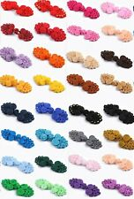 Beaded Frog Fasteners Button Knots 25 Different Colours  #S4