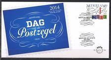 NEDERLAND ONBESCHREVEN FDC E-703 DAG VAN DE POSTZEGEL 2014