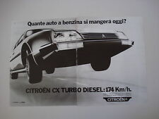 advertising Pubblicità 1984 CITROEN CX TURBO DIESEL