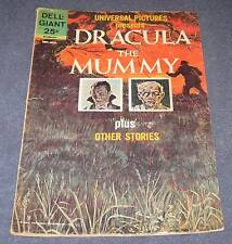 DELL GIANT comic 25¢   Universal Pictures DRACULA / THE MUMMY 1963 VG+ (4.5)