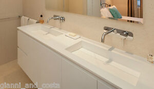 Bathroom 1800mm Vanity Counter Top Basin - Composite - Stone - Solid Surface