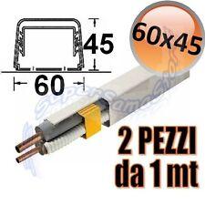 3S CANALINA in PVC 60x45 mm COPERTURA COMPLETA CONDIZIONATORE 2 BARRE DA 1mt