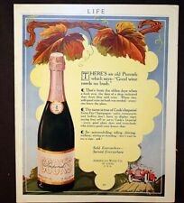 1916 Cook's Champagne or Pompeian Night Cream Hair Massage Ads Very Colorful