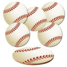 "Untersetzer 6-tlg.Set ""Baseball"" mit Korkrückseite - Bälle - Ball - Sport"