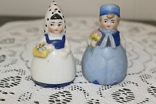 VINTAGE..CERAMIC...SOUVENIR, CANADA....DUTCH,W/ FLOWERS...SALT & PEPPER SHAKERS