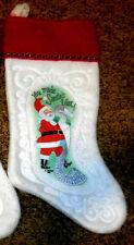 """Vintage Embossed 15"""" Embossed Rennoc Felt Christmas Stocking"""