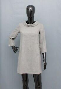 THEORY Dress Wool Angora Cashmere Mini Collared US4 UK8