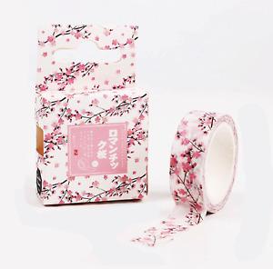 UK SELLER Kawaii Cute Sakura Cherry Blossom Craft Washi Decorative Tape