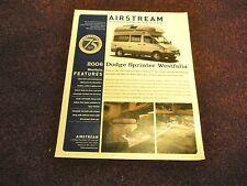 2006 Airstream WESTFALIA Dodge Sprinter Sales Brochure