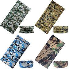 New Camo Camouflage Military Tube Scarf Durag Bandana Scarf Headbands Face Mask