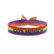 PRIDE Regenbogen Silikon-Armband Vertikal