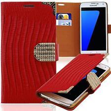 Book Style Tasche Samsung I8190 Galaxy S3 Mini Glitzer Handy Etui STRASS Case