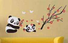 6400035 | Wall Stickers Animal Panda Baby Butterflies and Flowers