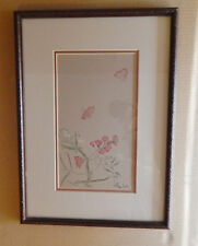 "?Wood Block Print? Matted in 13.25"" x 18.5"" (approx.) Frame. Age, Artist Unknown"