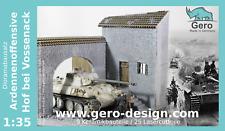 Gero Design Modellbau Diorama Bausatz Ardennenoffensive Hof bei Vossenack - 1:35