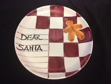 """""""Dear Santa..."""" Cookie Plate Made in Italy Home for the Holidays"""