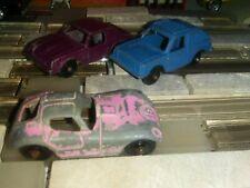 Tootsietoy mini 69'-70'smonza  purple,VW RABBIT BLUE ,pink #18 lot of 3 Nice