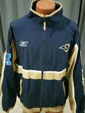 NFL Reebok St Louis Rams Jacket Football Blue Gold size L