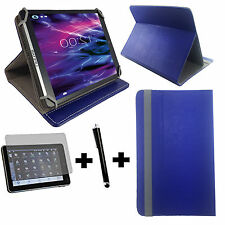 3er Set 7 zoll Tablet Tasche + Folie + Stift - Medion E6912 E Tab - 3in1 Blau