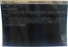 Honda VT750C Shadow 2007 Parts List Microfiche h314