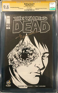 ROBERT KIRKMAN CGC SS 9.6 Signed The Walking Dead #1 SKETCH COVER