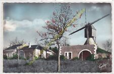 CPSM 37140 BOURGUEIL le Moulin Bleu au Printemps Edit ARTAUD