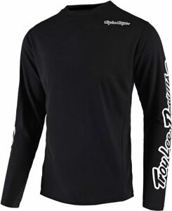 Troy Lee Designs Men's Sprint Jersey Long Sleeve Solid Black size Small NWT