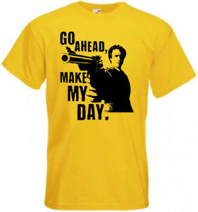 Go ahead make my day! T shirt Clint Eastwood all colors all sizes S-5XL.