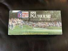 Vintage 1991 PGA Tour Pro Set cartes à collectionner neuf scellé 285 cartes boîte Golf