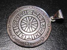 Astrología Rueda Colgante * Plata * Zodiaco símbolos por Peter Stone