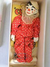 1937 Effanbee (F&B) Clippo the Clown Marionette Doll Virginia Curtis Austin