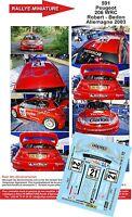 DECALS 1/43 REF 591 PEUGEOT 206 WRC ROBERT RALLYE ALLEMAGNE 2003 RALLY