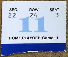1984 Stanley Cup Edmonton Oilers Playoff Ticket Stub - Wayne Gretzky