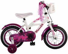 12 Zoll Fahrrad Rücktritt Stützräder Korb Kinderfahrrad Mädchen Kinderrad Pink
