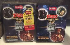 2  X STAR WARS TAZO COLLECTION BOOKS ONE SEALED ONE 100% COMPLETE ALL DISCS 1990