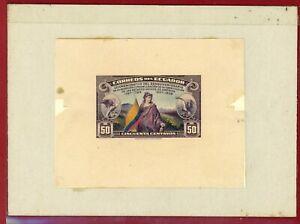Ecuador 1938 #370, Die Proof on Card, 150th Anniv of US Constitution, Flag,Bird
