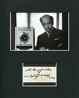 Yousuf Karsh Famous Photographer Rare Signed Autograph Photo Display
