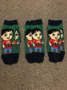 Boys Ryans World Socks Size 6 - 8.5 Three Pairs - New without Tags!!!