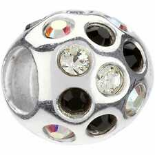 Authentic Chamilia Element Charm 925 Silver Disco Black Swarovski Bead JB-35F