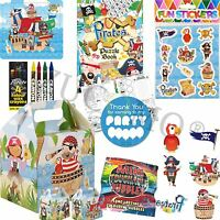 Boys Pirate Pre Filled Childrens Paper Party Bags Boxes For Birthday Gifts V4