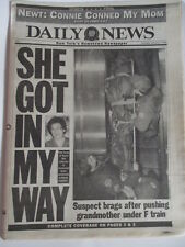 LENNY WILKENS FAILS TO WIN #600 NEW YORK DAILY NEWS NEWSPAPER 1/5 1995 NY KNICKS