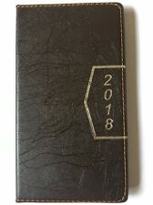 2018 Pocket Calendar Planner Appointment Book Weekly Travel Agenda, Brown