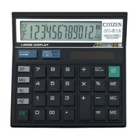 12 Digit Desk Calculator Large Buttons Solar Power Desktop Battery Sho CRI