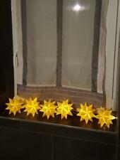 6 Bascetta Sterne mit LED-Lichterkette ,  Adventsstern, Weihnachtsstern