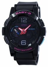 Casio Baby-G Shock Resistant Tide Graph Analog Digital BGA-180-1B Womens Watch