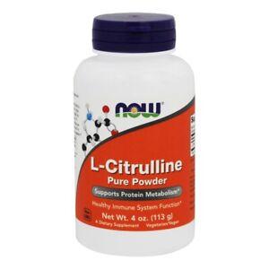 NOW Foods L-Citrulline Pure Powder, 4 Ounces